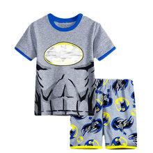 Kids Boys Girls Clothes Baby Pajamas Summer Short Sleeved Set Cartoon Spiderman Minnie Lackey Children's Sleepwear(China)