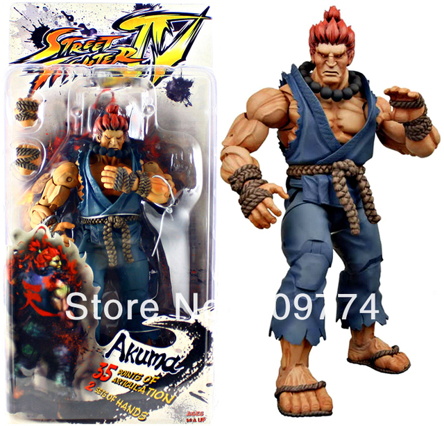 Latest version!NECA Player Select Street Fighter IV Survival Mode Action Figure Akuma