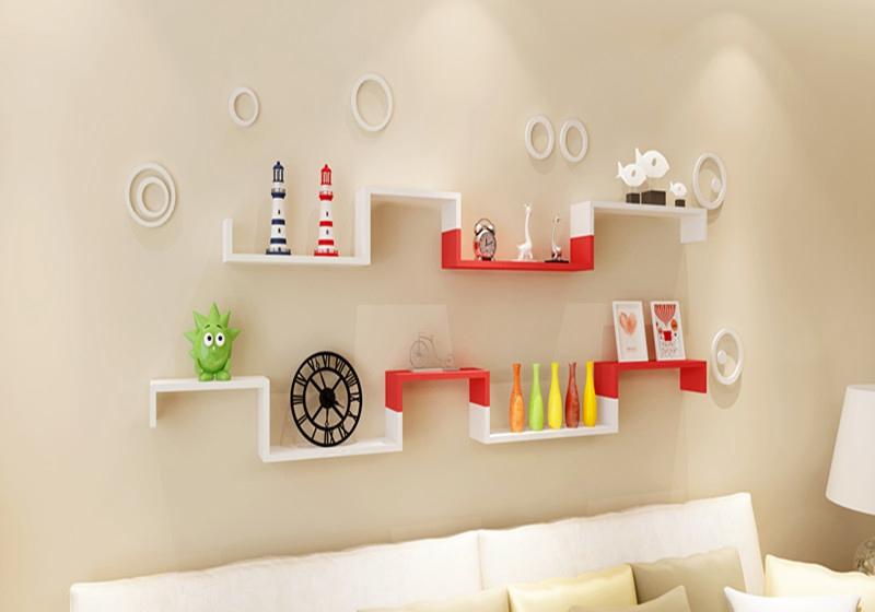 Three-piece U -shaped shelf laminates mountain wall word cabinet hanging bracket glove shelves decorative frame<br><br>Aliexpress