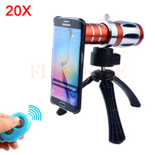 Buy 2017 Phone Lens Kit 20x Telescope Optical Zoom Telephoto Lens Samsung Galaxy note 2 3 4 5 7 s3 s4 S5 S6 S7 edge Case Tripod for $58.85 in AliExpress store