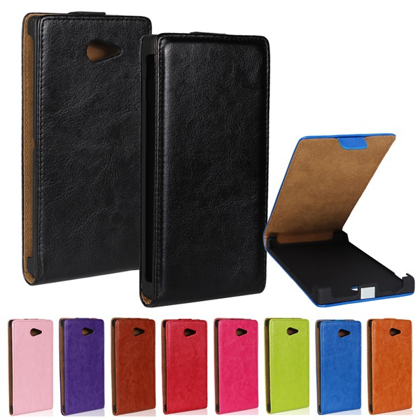 Retro Style Crazy Horse Flip Leather Case For SONY Xperia M2 S50H D2303 D2305 D2306 Dual Sim Mobile Phone Protective Cover(China (Mainland))