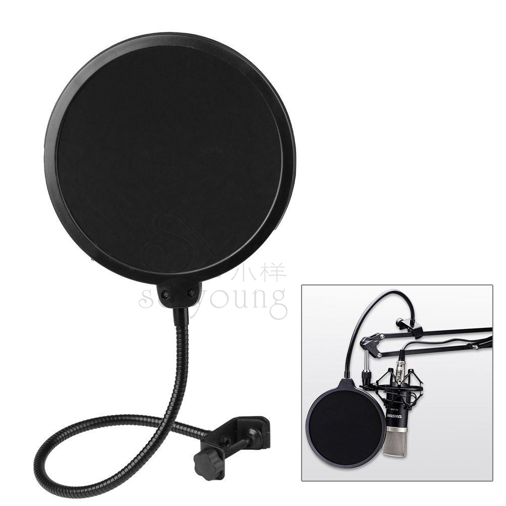 Profisional Pop Filter For Recording Studio Microphone Mic Shied Mount Stand Wind Screen precise positioning(China (Mainland))