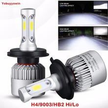 Buy Pair White 6000K C6 H4 H7 H13 H11 H8 9005 9006 H3 9004 9007 H13 9012 COB LED Headlight 72W 8000LM Car Fog DRL Light Running Bulb for $27.30 in AliExpress store