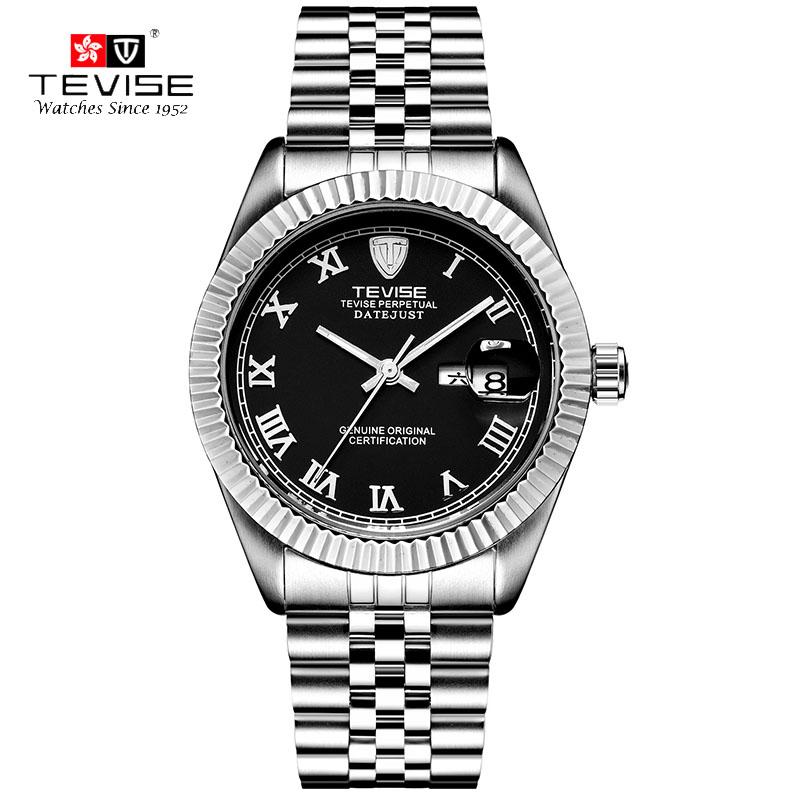 TEVISE Men's Business Casual Watch Luxury Men's Automatic Mechanical Wristwatches Roman Diamonds Dial reloj hombre 629ZB(China (Mainland))