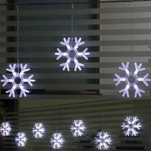 Christmas lights led snow light string 48led 8 snows home decorative shop props Super snowflake lights 200cmx 0.45cm A20ag(China (Mainland))