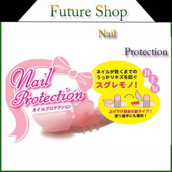 (10pcs/1 Box) New arrival Manicure Nail Polish Varnish Protection Clip Tip Protectors Covers nail art tool Pink free shipping