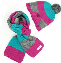 Hat Children Striped Scarf Kids Boys Wool Knitted Winter Neck Wrap m507(China (Mainland))
