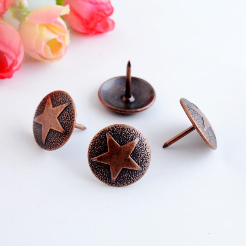 Free shipping 10Pcs Copper tone drum nail doornail Archaize decorative nail thumbtack hardware fastener 19x21mm F0975(China (Mainland))