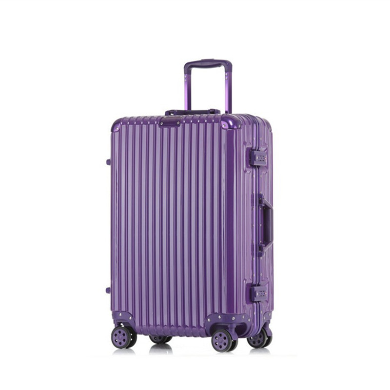 "20""22""24""inch New Aluminum frame+PC Suitcase,High-quality Anticollision Luggage,TSA Password Lock Trolley Box,Rolling Travel Bag(China (Mainland))"
