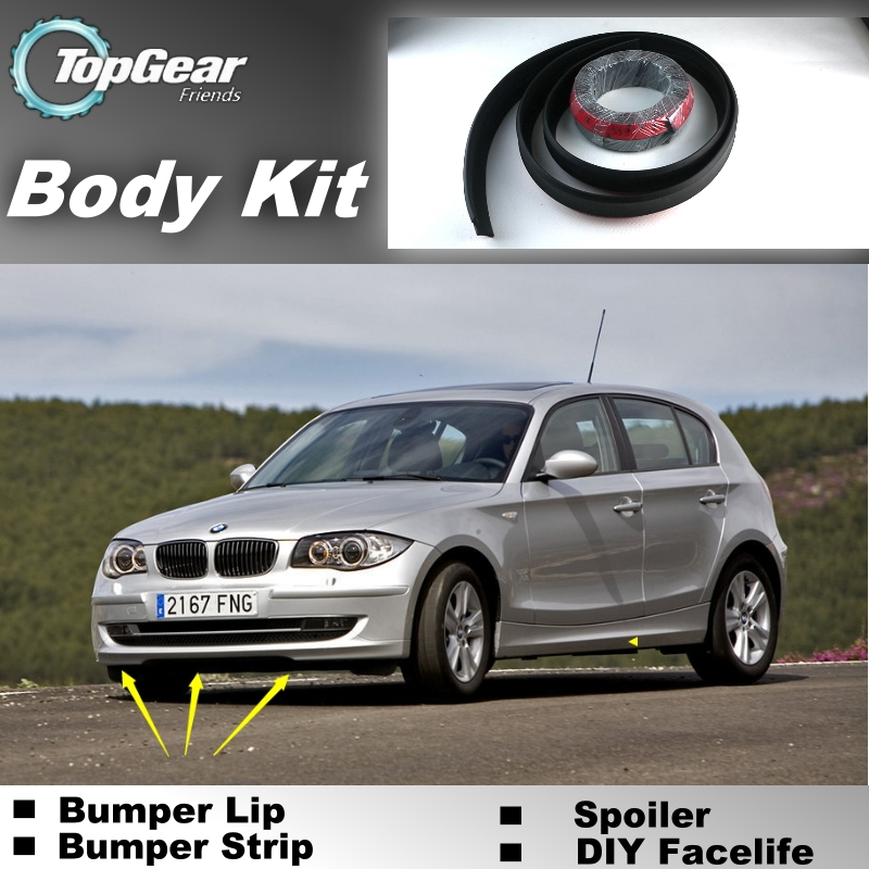 Bumper Lip Lips For BMW 1 M1 E81 E82 E87 E88 F20 F21 / Top Gear Shop Spoiler For Car Tuning / TOPGEAR Recommend Body Kit + Strip<br><br>Aliexpress