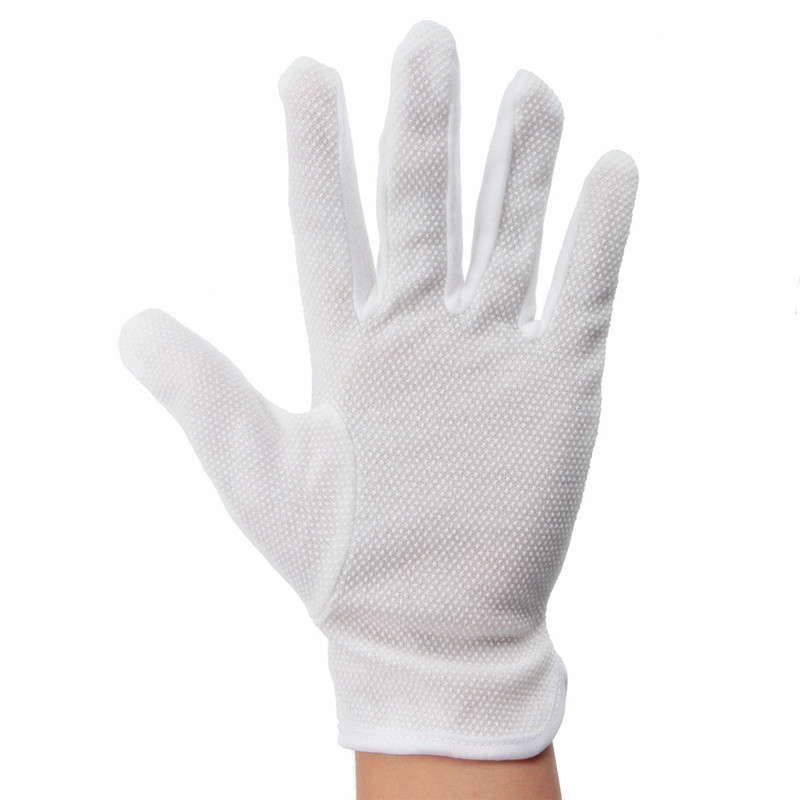 Highly Elastic Heat-resistant Fiber Cotton Glove Hand Safely Security Protector White 22x14cm For Left Hand White(China (Mainland))