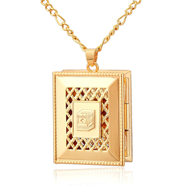 Top Quality Vintage Holy Religious Floating Locket Photos Pendants Charms 18K Real Gold Plated Jewelry For Men / Women P202(China (Mainland))