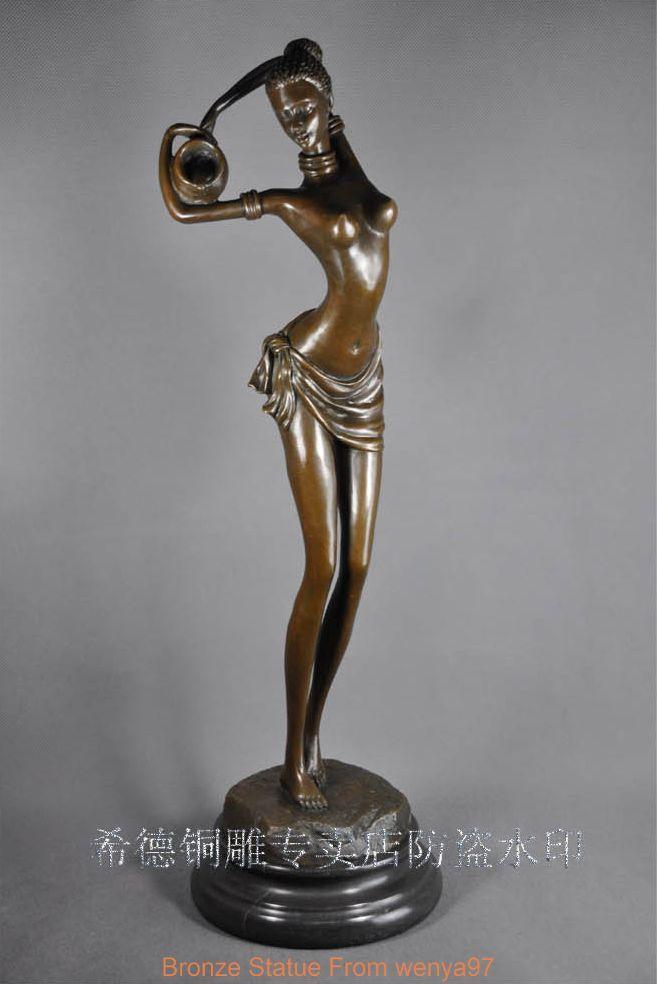 from Brett naked black woman statue afro