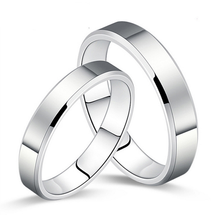 2015Newest!!! Men's Ring fashion Stainless Steel Gloss Couple Bands Wedding Rings For Men And For Women Freeshipping(China (Mainland))