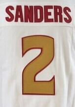 2016 New Florida State 2 Deion Sanders College Football Jerseys Red Black White Top Quality Drop SHipping Accept Mixed orders(China (Mainland))