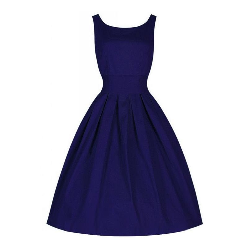 4 Colors Women Vintage Elegant Dresses Ball Gown Sleeveless Dress(China (Mainland))