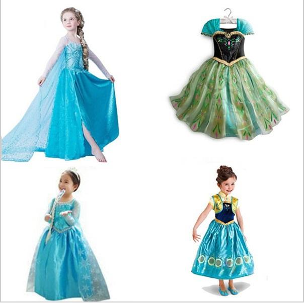 Frozen Baby Girls Dress Elsa Anna Party Dress Kids Princess Dress Children Clothing Vestidos Fever Elsa Dress Girls(China (Mainland))