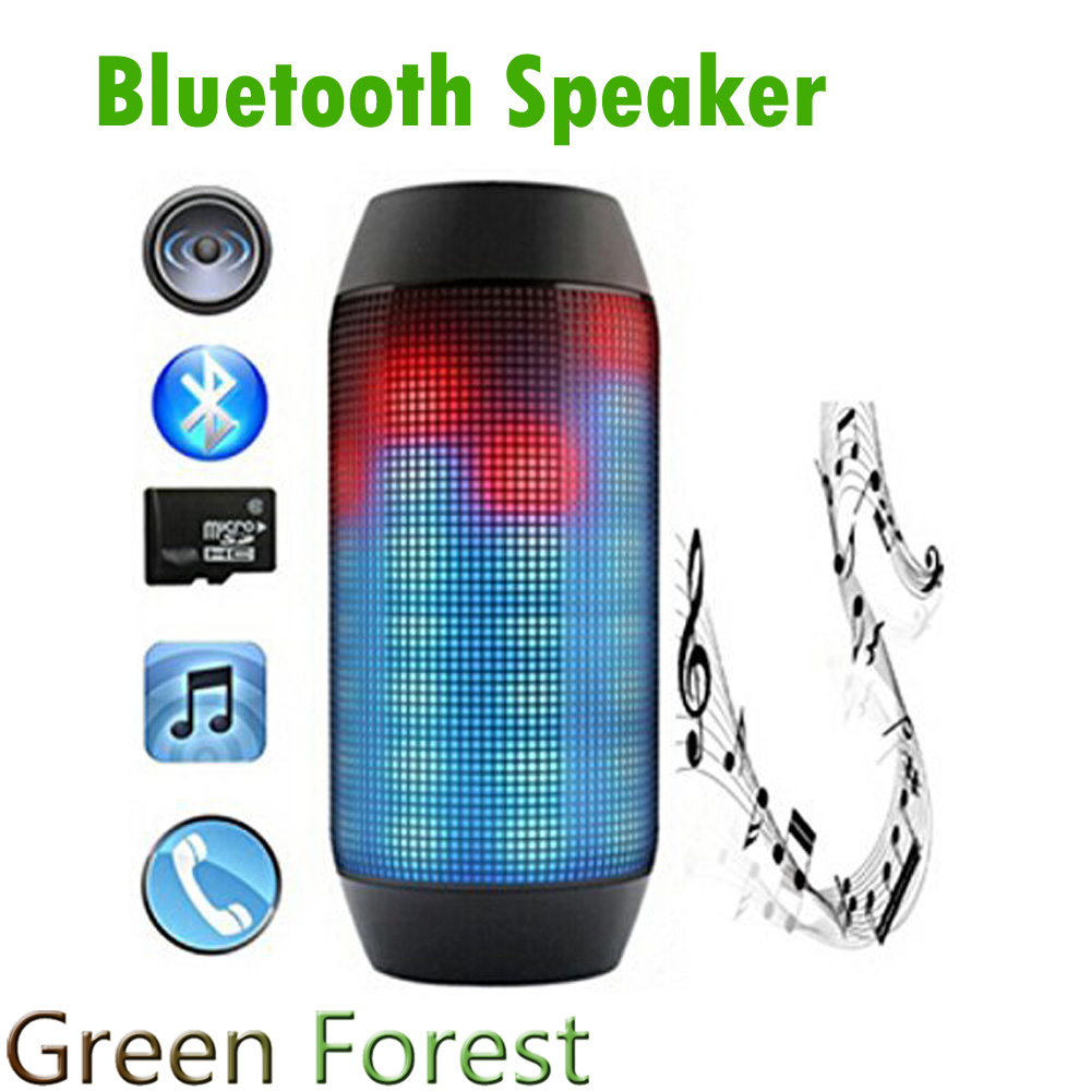 Electronic Audio Bluetooth Speaker LED lights Pulse Portable Wireless LED Support NFC Colorful 360 TF Card Outdoor(China (Mainland))