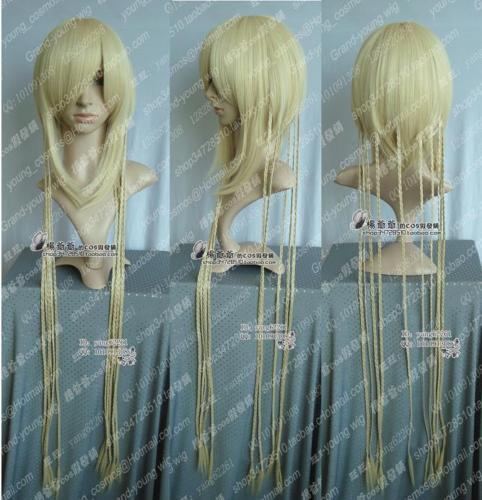 Hot heat resistant Kanekalon Party hair Chang Magic Night Amber City Cosplay Long Blonde Wig(China (Mainland))