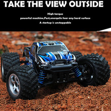 High Speed RC Car 1/18 Scale 2.4G 4wd Sandy Land Monster Truck 9300 Remote Control Car Gift For Children Kids Toys(China (Mainland))