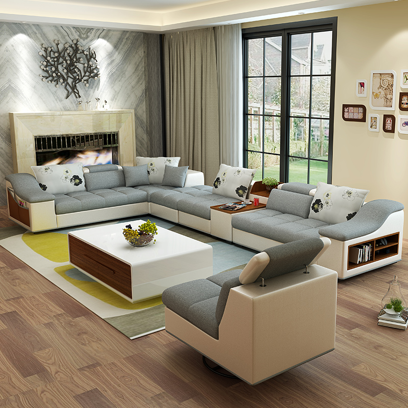 Elegant High Quality Modern Furniture Sofa For High Quality With New Design  L Shape Sofa.