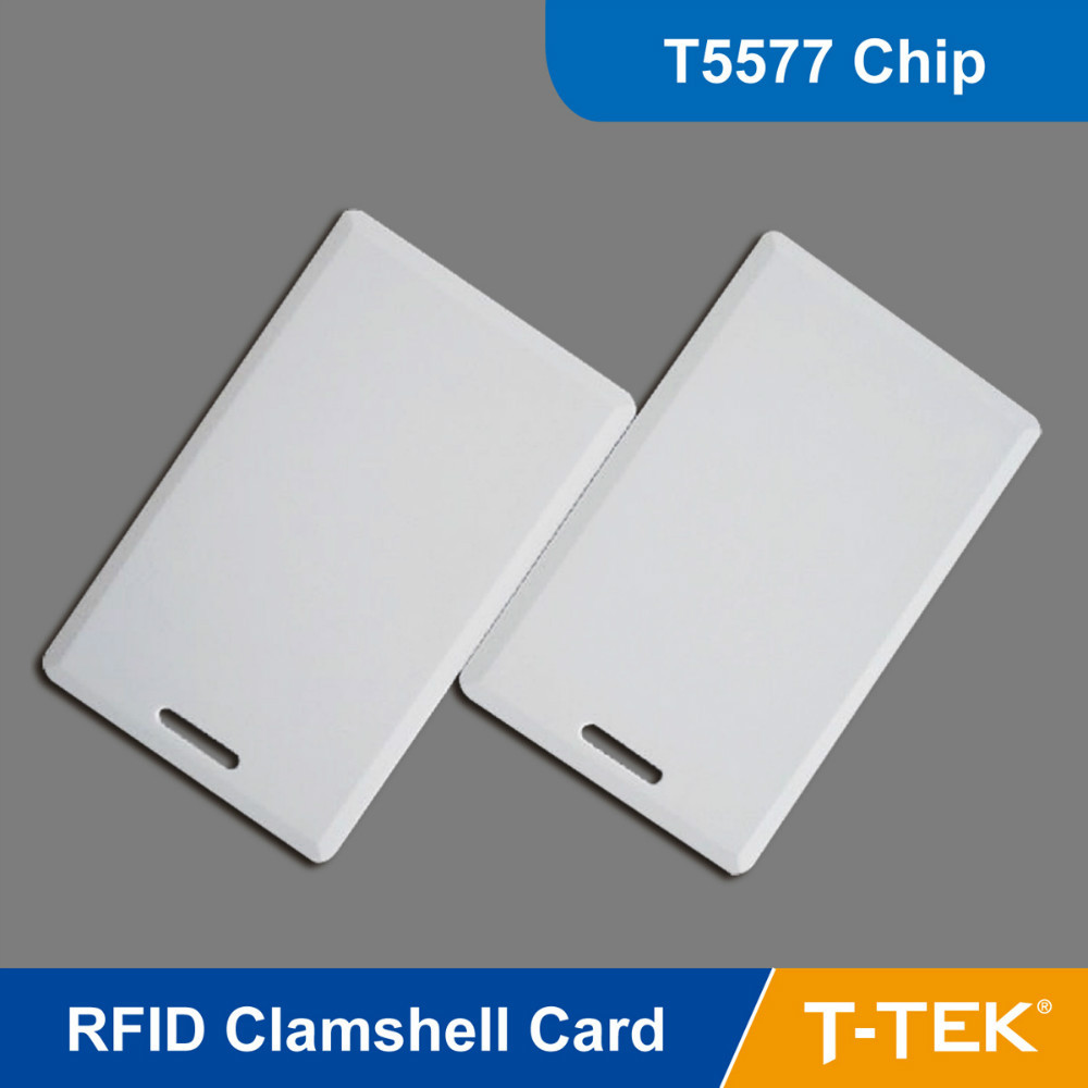RFID Clamshell Card, RFID Smart Card for access control, RFID Tag, Read Write Card,T5577 Chip Free Shipping(China (Mainland))