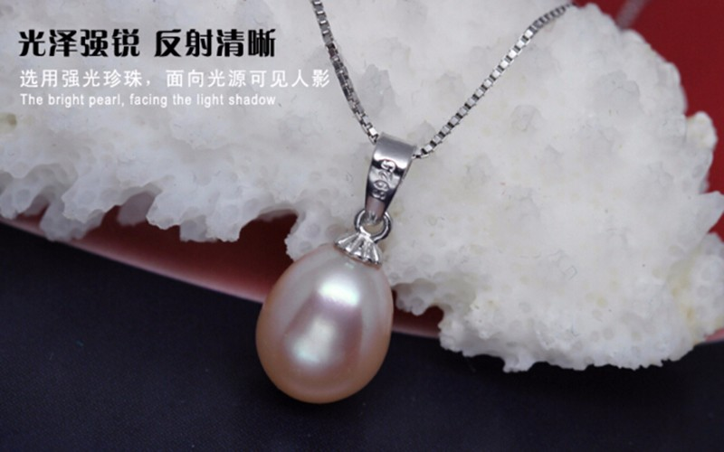 pearl pendant necklace silver jewelry (5)