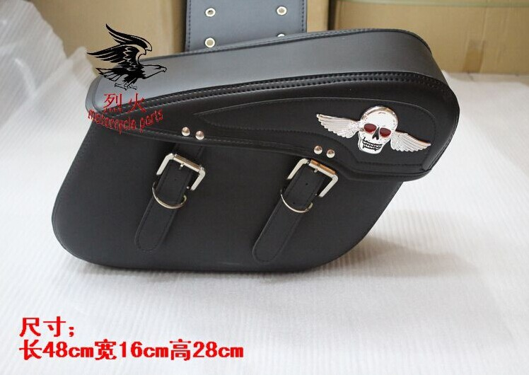 Мотоциклетная кожаная сумка для сидений Motorcycle side bag Saddle free shipping motorcycle bag modified cruiser vulcan side chartered saddle bag with rivets side boxes motorcycle kit bag