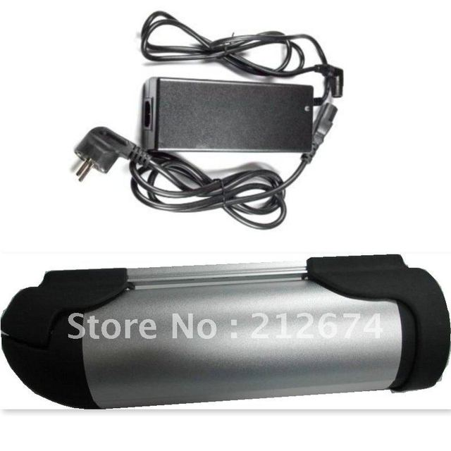 Free shiping lithium Ion battery 36v 10ah  bottle battery for  electric bike BN3610AS  (Including charger +holder)