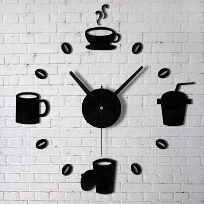 Fashion Acrylic DIY Self Adhesive Interior Wall Creative Decoration Clock Free shipping &wholesale(China (Mainland))