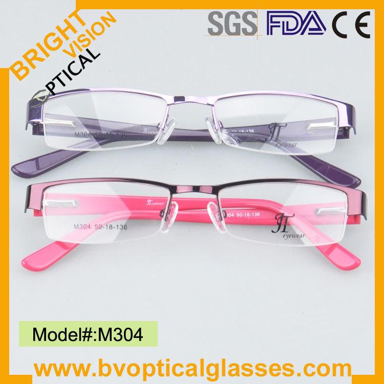 Colorful free shipping women fashionable eyeglasses with spring hinge M304