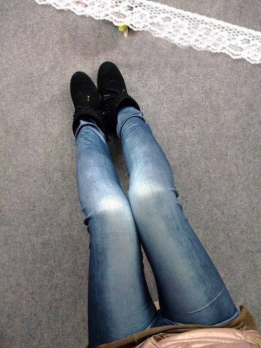 2015 Promotion Sale Low Satin Poly Ripped Print Punk Fitness Seamless Printing Imitation Jeans Nine Pants Leggings 8181(China (Mainland))