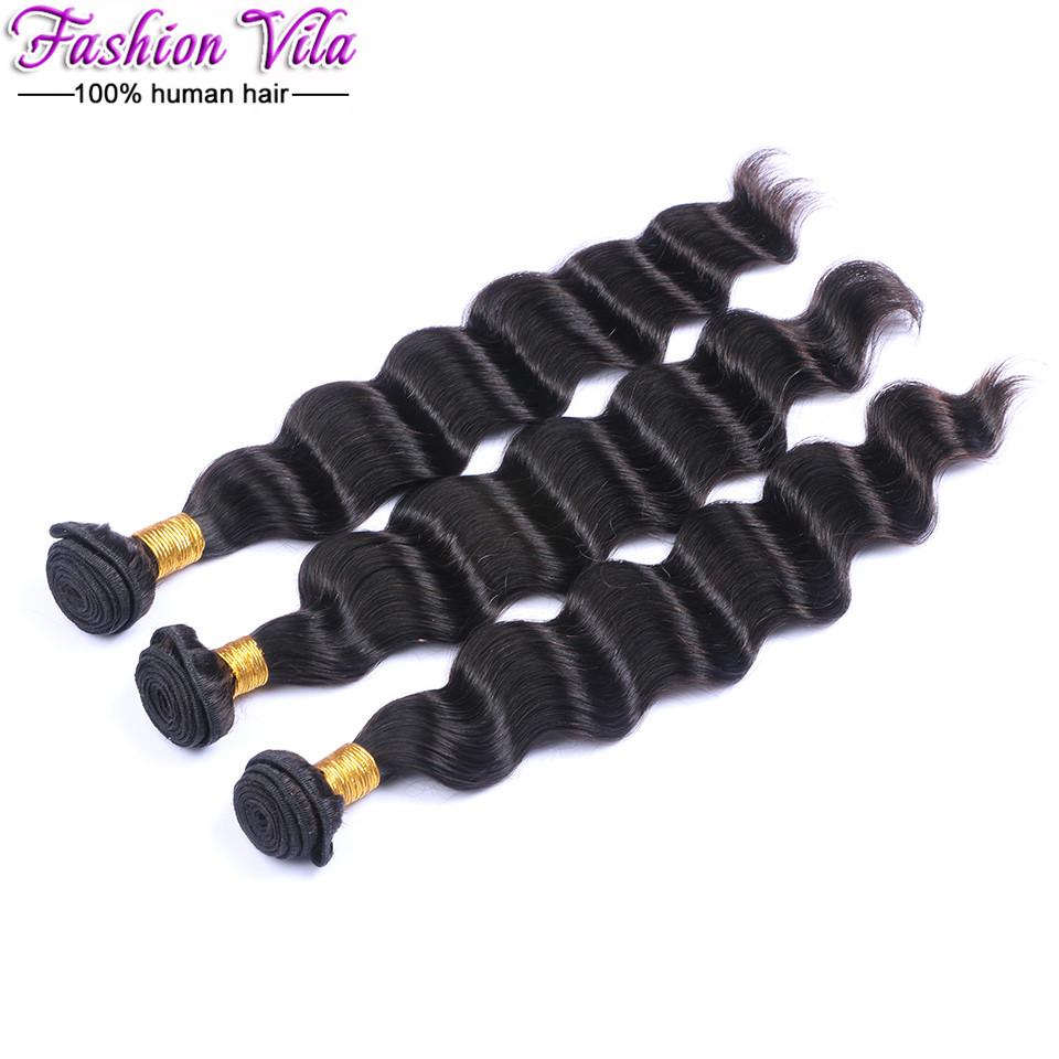 Grade 10A Brazilian Loose Wave With Closure Unprocessed Brazilian Virgin Hair 3 Bundle With Closure Loose Deep Wave With Closure