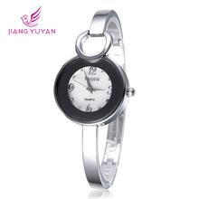 Relojes 2015 mujeres nuevo elegante pulsera del vestido de relojes señora del cuarzo de japón del reloj de diamantes de imitación de plata pulsera orologi donna
