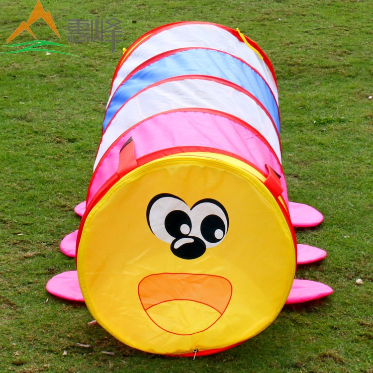 2015 Latest version of lovely caterpillar tunnel tube Children learn cylinder climbing toys children tent tunnel free shipping(China (Mainland))