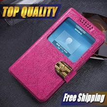 Original Luxury View Window Flip leather cover case for samsung galaxy mega 6.3 I9200 I9205 phone cases back cover with Stander