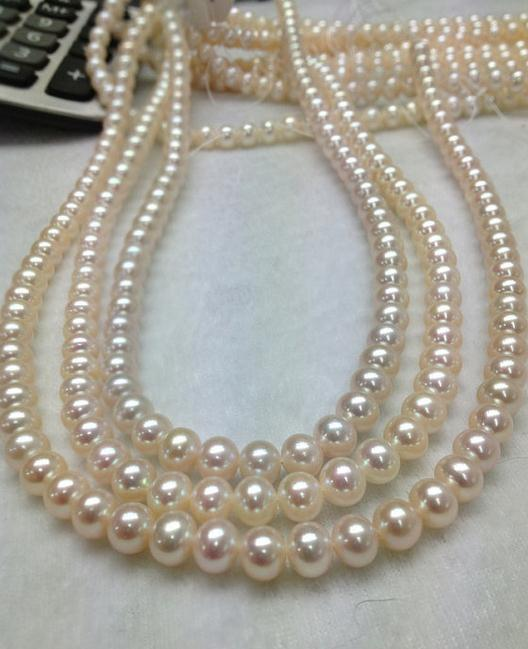 Top Quality Pearl Jewelry Freshwater Pearl Strand AAA White Color Round Loose Beads DIY Pearl Jewelry Material