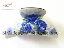 2016 New plastic Grasp Flower Pattern Hair Clips Accessories Acrylic Grand Hair Jaw Claw Gift Hair Claw cute Clips For Women S-4