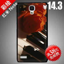 Hard Plastic shell Painted Xiaomi Redmi Note / Red rice NOTE 4G 5.5 inch Back Cover phone case cases Rose Piano 2/Free sh - Max Painting workshop store