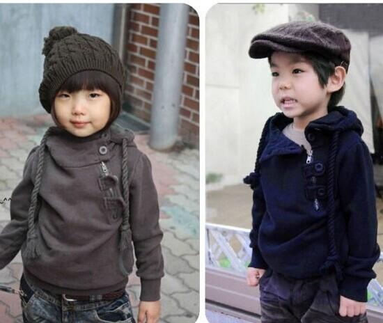 Мальчики hoodied мальчик одежда осень супер косой молния толстовки хлопок длинный рукав пиджаки закрытый воротник толстовка