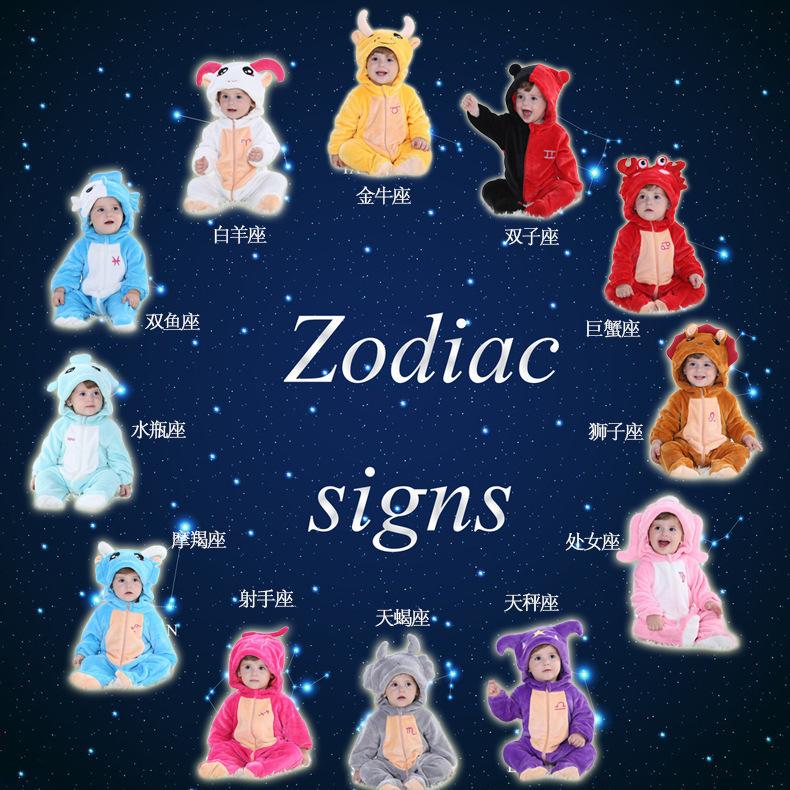 2015 baby boy girl Cute spring zodiac long sleeve jumpsuit ...