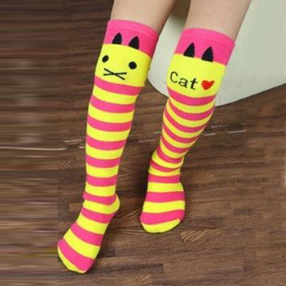 Toddlers Kids Girls Knee High Socks School Cotton Tights Striped Stockings for Girls 1-8Y  Wholesale