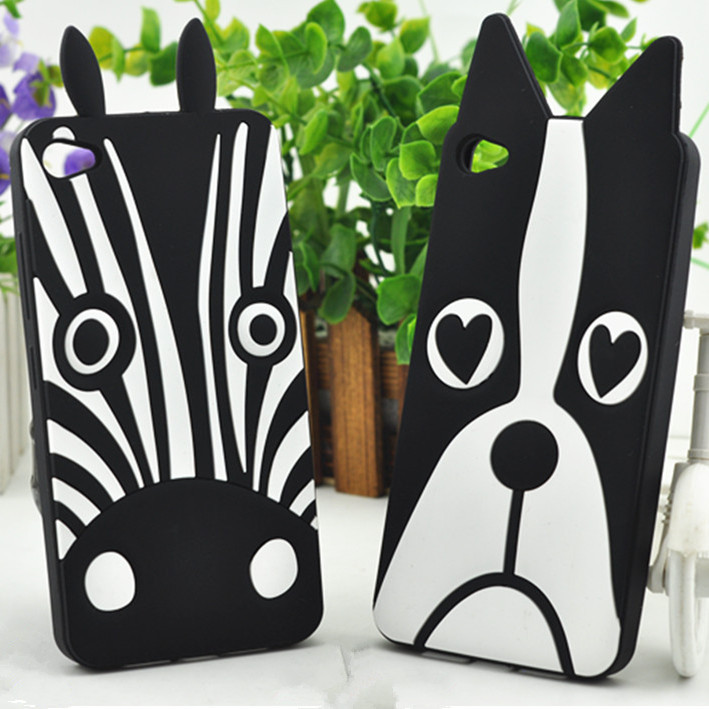 Lovely 3D Dog Zebra Soft Silicon Case for Lenovo S90 Phone Cover Case for Lenovo S90(China (Mainland))