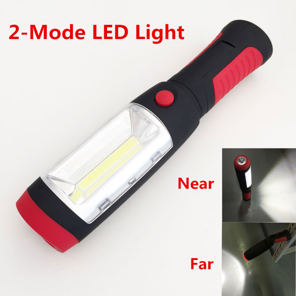 Portable mini LED Flashlight Work Light lamp with Magnet & Rotating Hanging Hook for Outdoors camping sport & home use(China (Mainland))