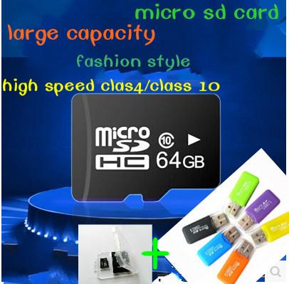 product Real Capacity Micro SD Card Memory Card 4GB 8GB 16GB 32GB TF Card Flash Memory Free Gift adapter + TF card reader T3