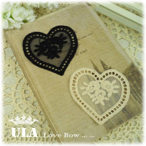 Wholesale applique heart design DIY Decoration Lace Fabric Paste Decoraive Cloth Paste  Lace Applique