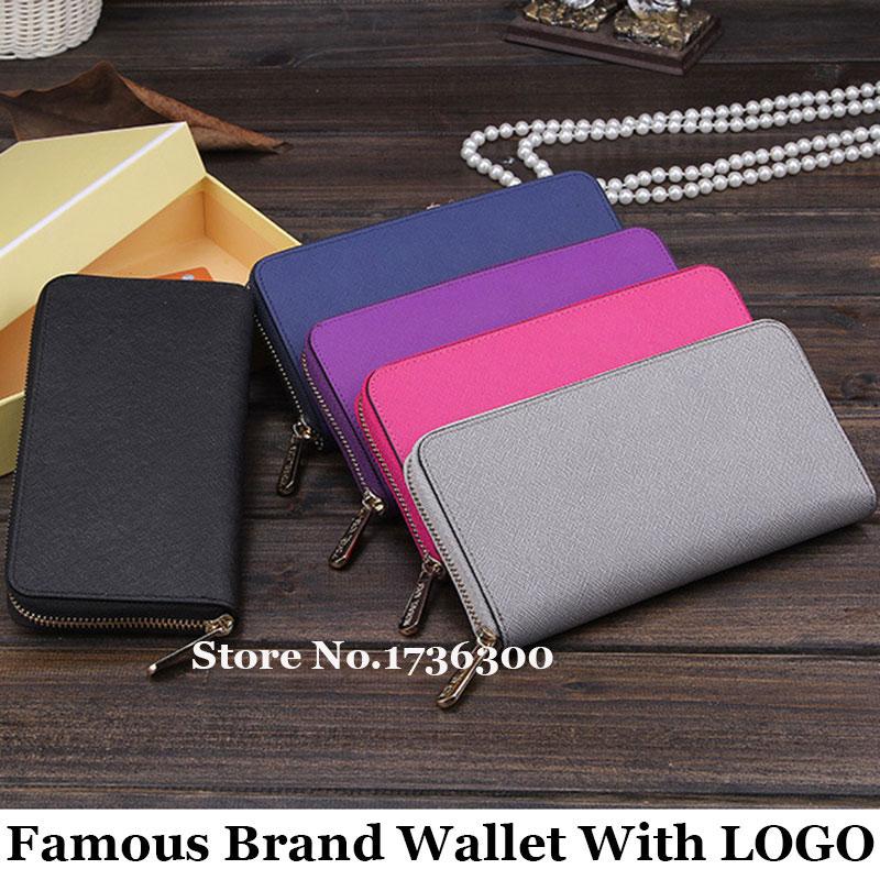 Famous Brand Genuine Leather Women wallets Luxury Zipper Long Purse Card Holder Purse Monederos carteras mujer<br><br>Aliexpress