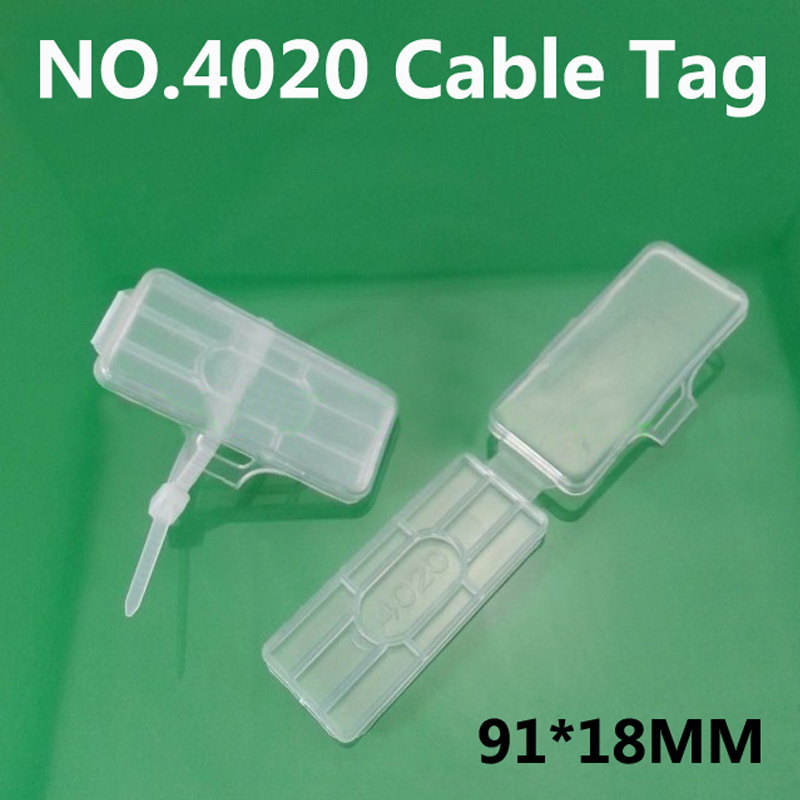 NO.4020 cable tag Cable ties Wire signage Cable signage Logo box Waterproof transparent 69.9pcs/lot(China (Mainland))