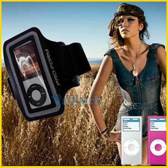 Sport Armband For iPod Nano 4 5 MP3 MP4 player soft running arm band belt case for IPOD NANO 4th 5th gen free shipping(China (Mainland))
