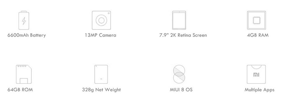 Original Xiaomi Mi Pad 3 Tablet PC